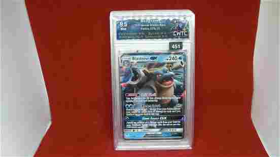 cwtc graded 9.5 blastoise pokemon gx
