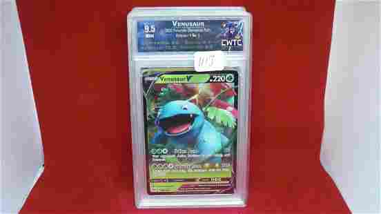 cwtc graded 9.5 venasaur pokemon holo foil card