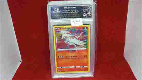 cwtc graded gem 10 reshiram pokemon card