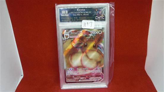 cwtc graded gem 10 eevee pokemon card