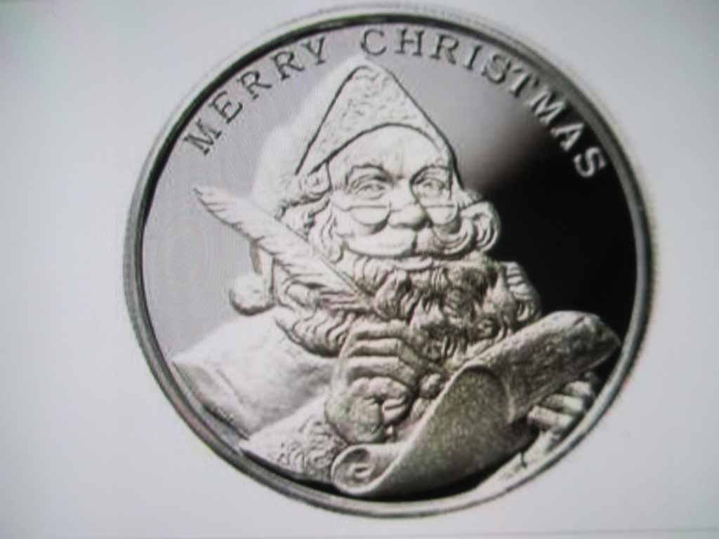 2015 Christmas Santa Clause 1 Ounce Silver Round