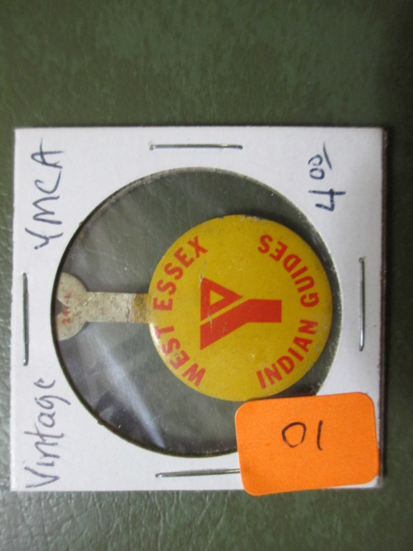 Vintage YMCA Fold Over pin/button