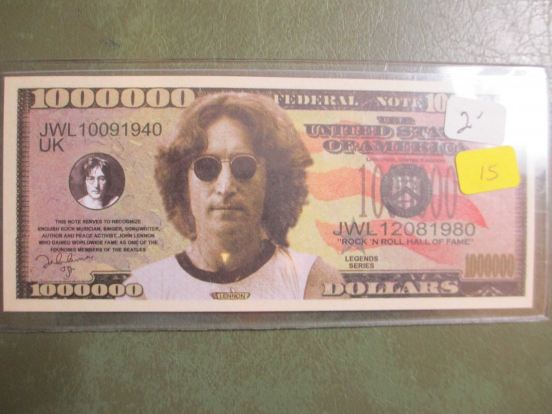 John Lennon Beatles Fantasy Note