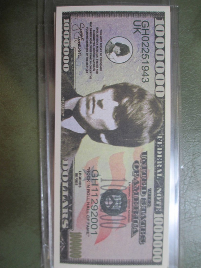 George Harrison Beatles Fantasy Note