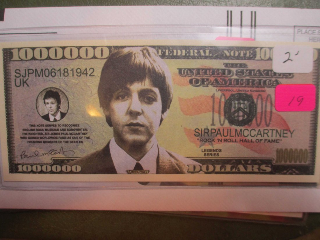 Paul McCartney Beatles Fantasy Note