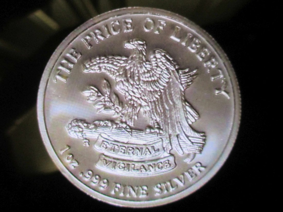 """DON'T TREAD ON ME"" SNAKE 1 OUNCE SILVER ROUND"