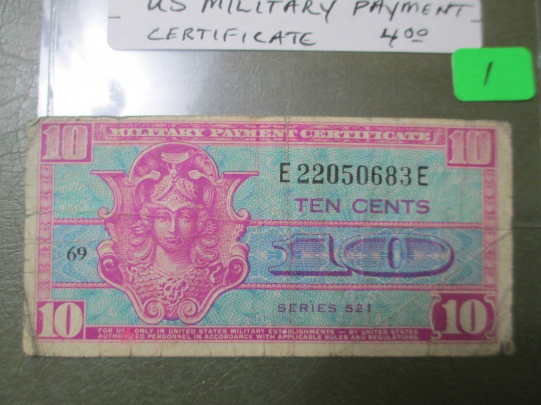 Vintage Military Payment Certificate