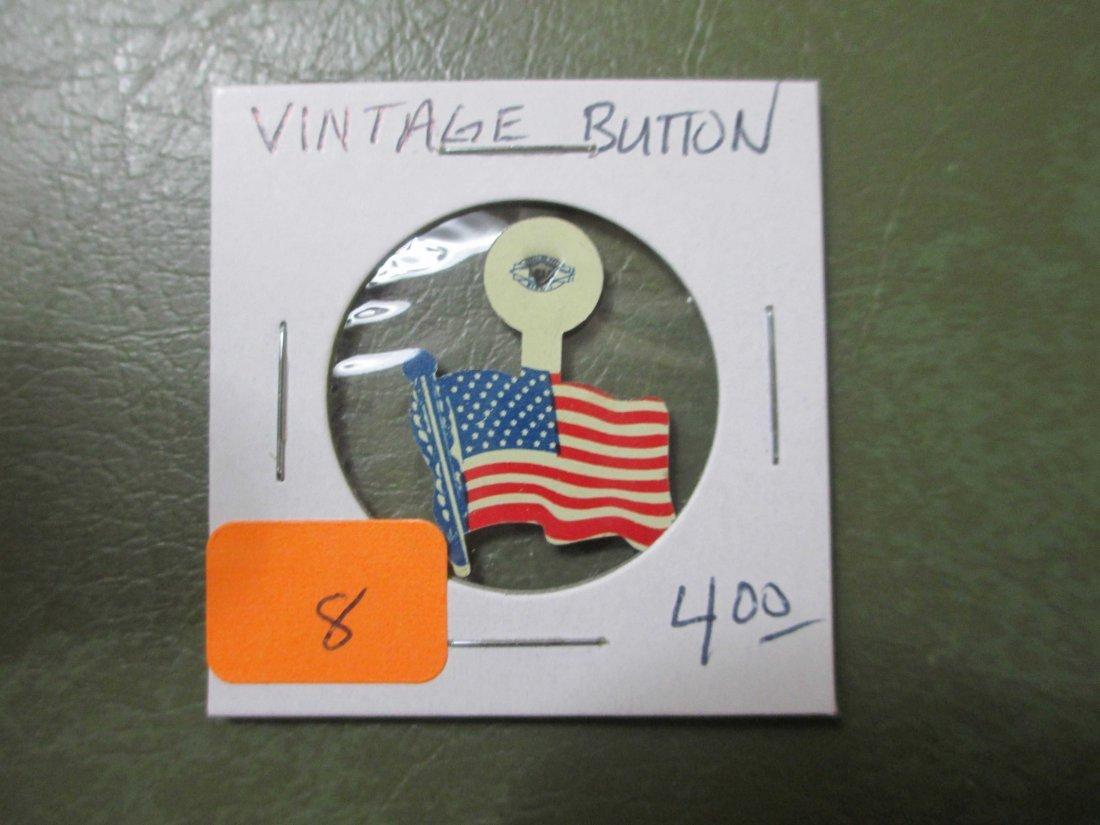 vintage USA Flag fold over pim/button