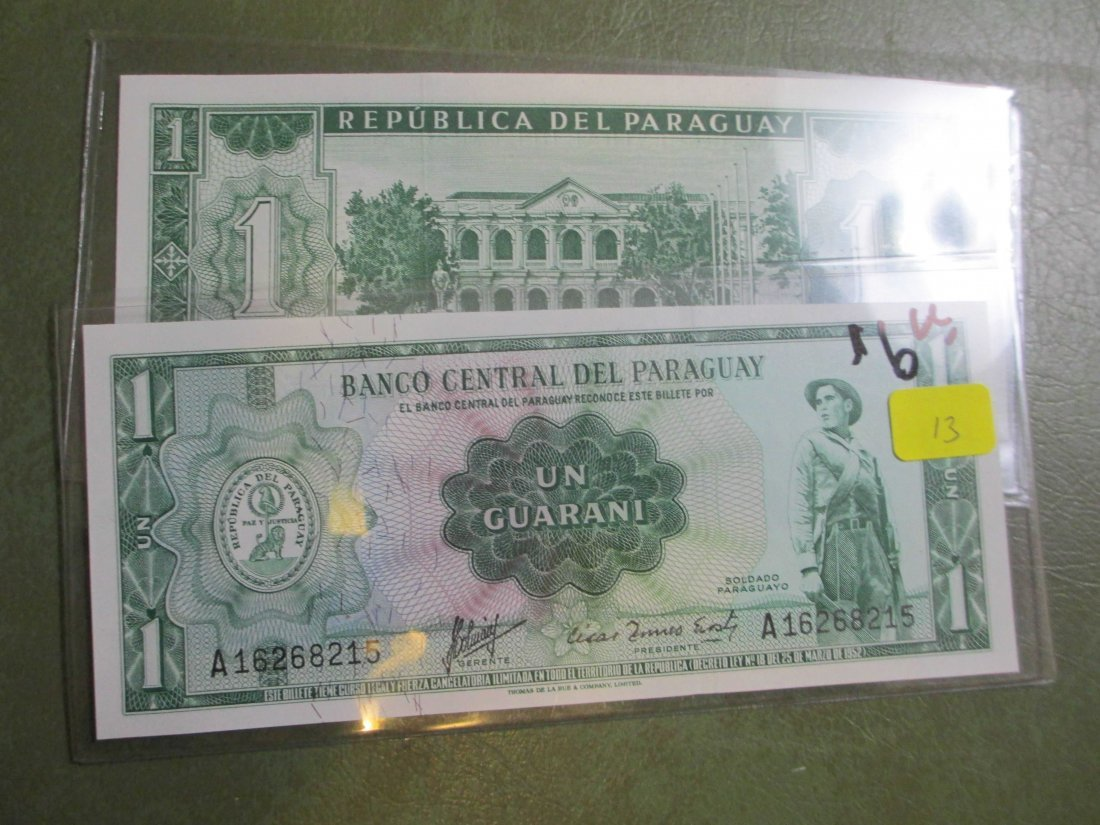 Lot of 2 World Currency Notes