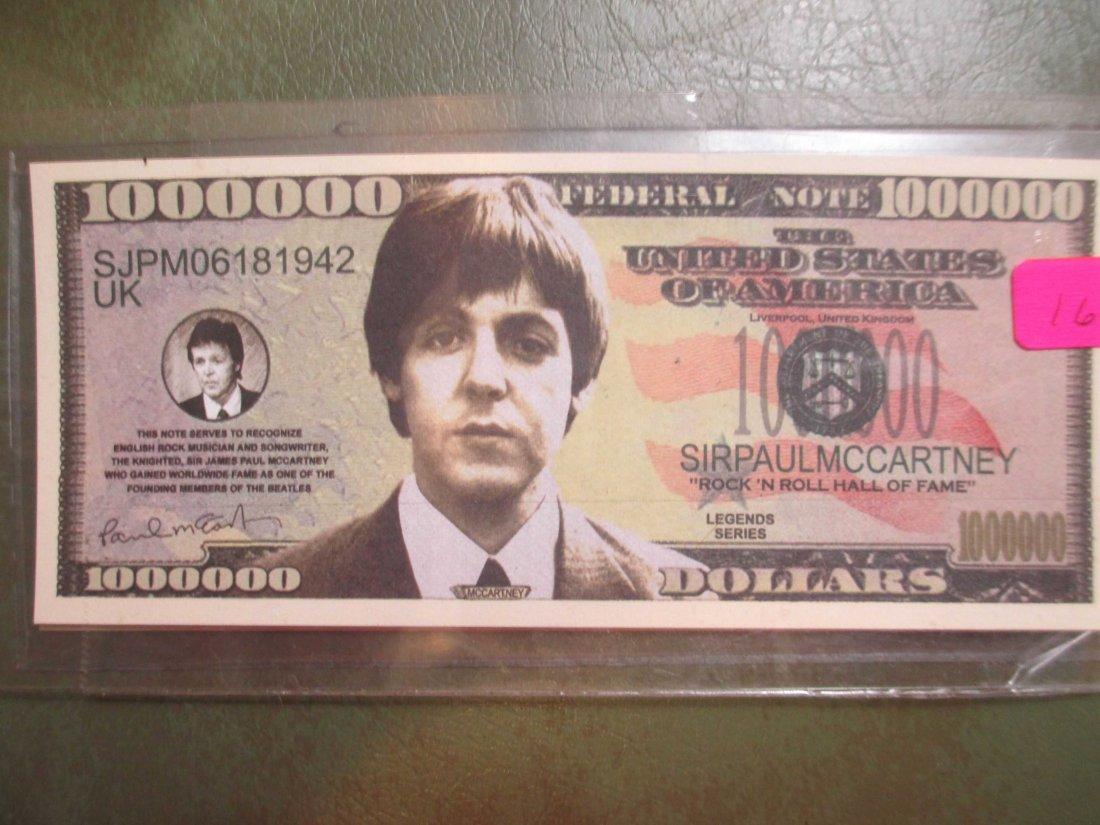 Paul McCartney Beatles Fantasy Note