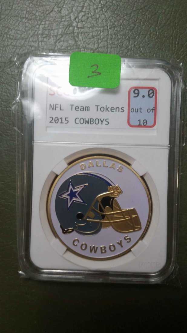 DALLAS COWBOYS GRADED NFL CHALLENGE COIN