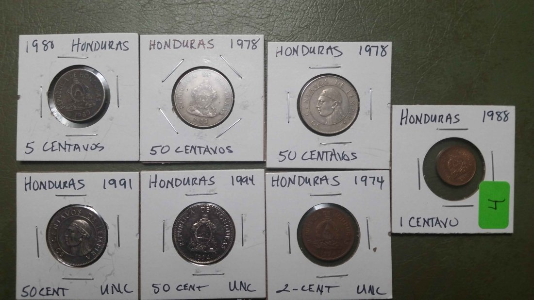 LOT OF 7 WORLD COINS