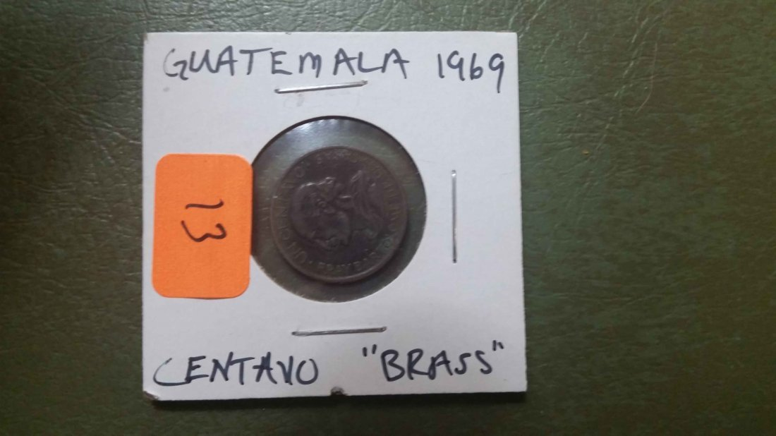 1969 GUATEMALA BRASS COIN
