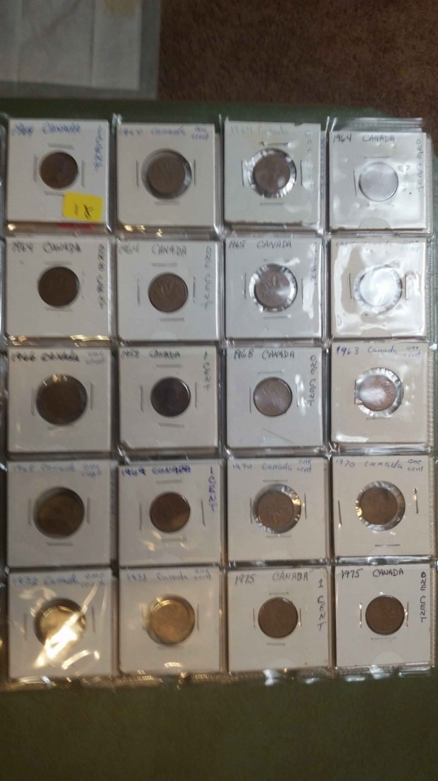 LOT OF 20 CANADA 1 CENT