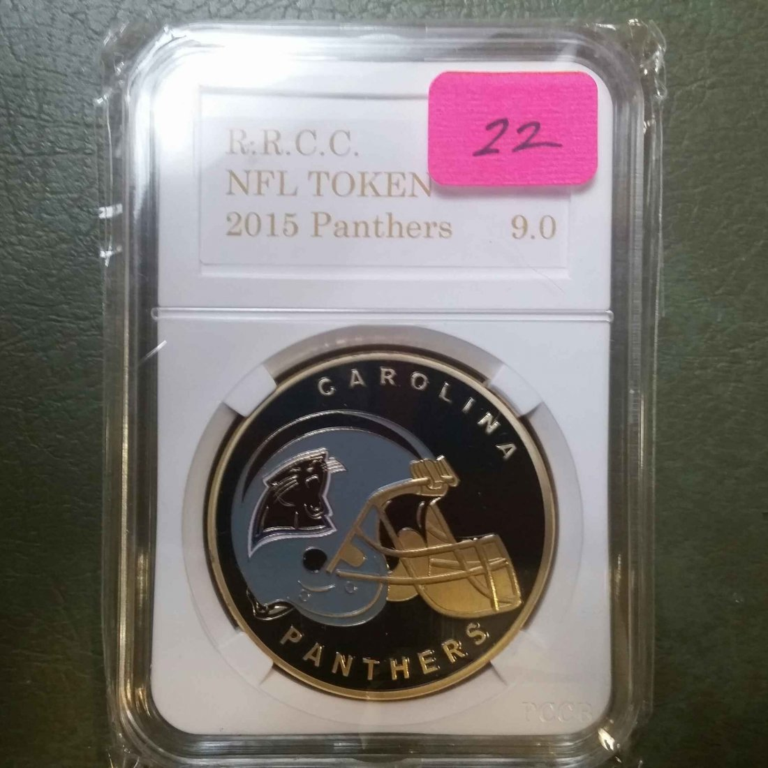 CAROLINA PANTHERS GRADED NFL CHALLENGE COIN