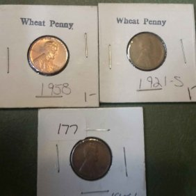 Lot Of 3 Wheat Cents
