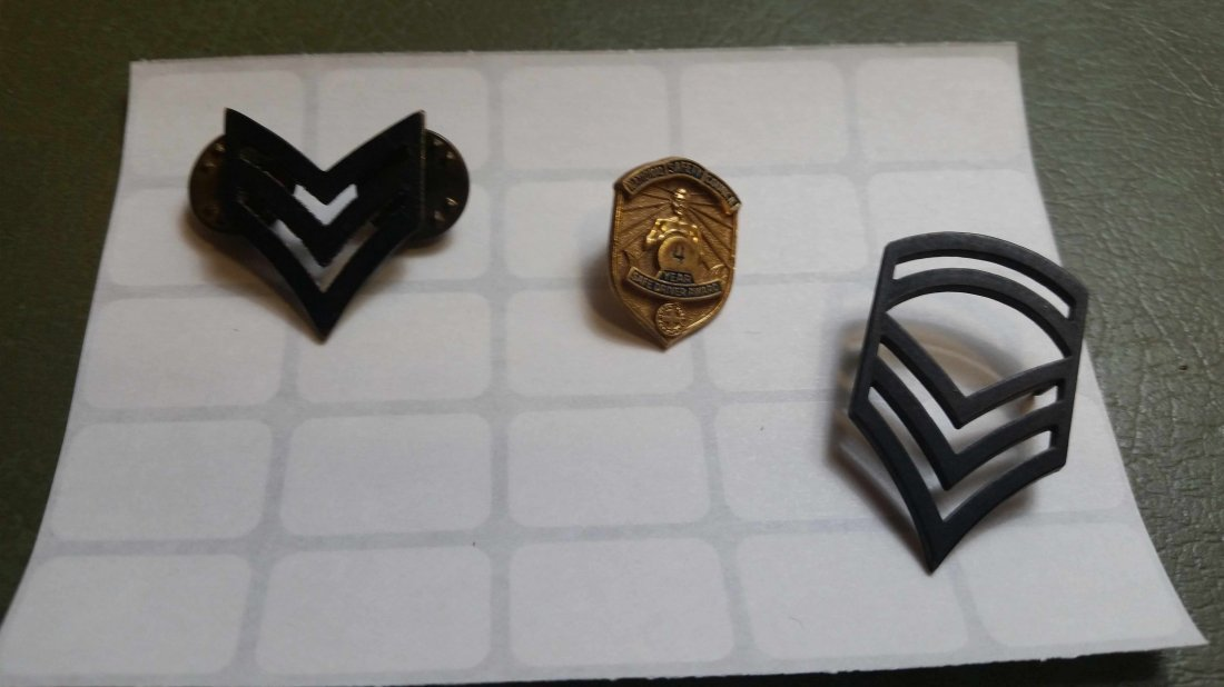 LOT OF 3 MILITARY PINS