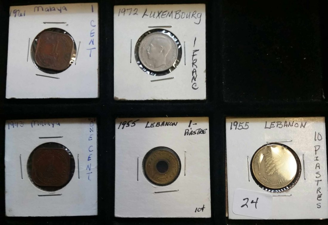 LOT OF 5 MISC. FOREIGN COINS