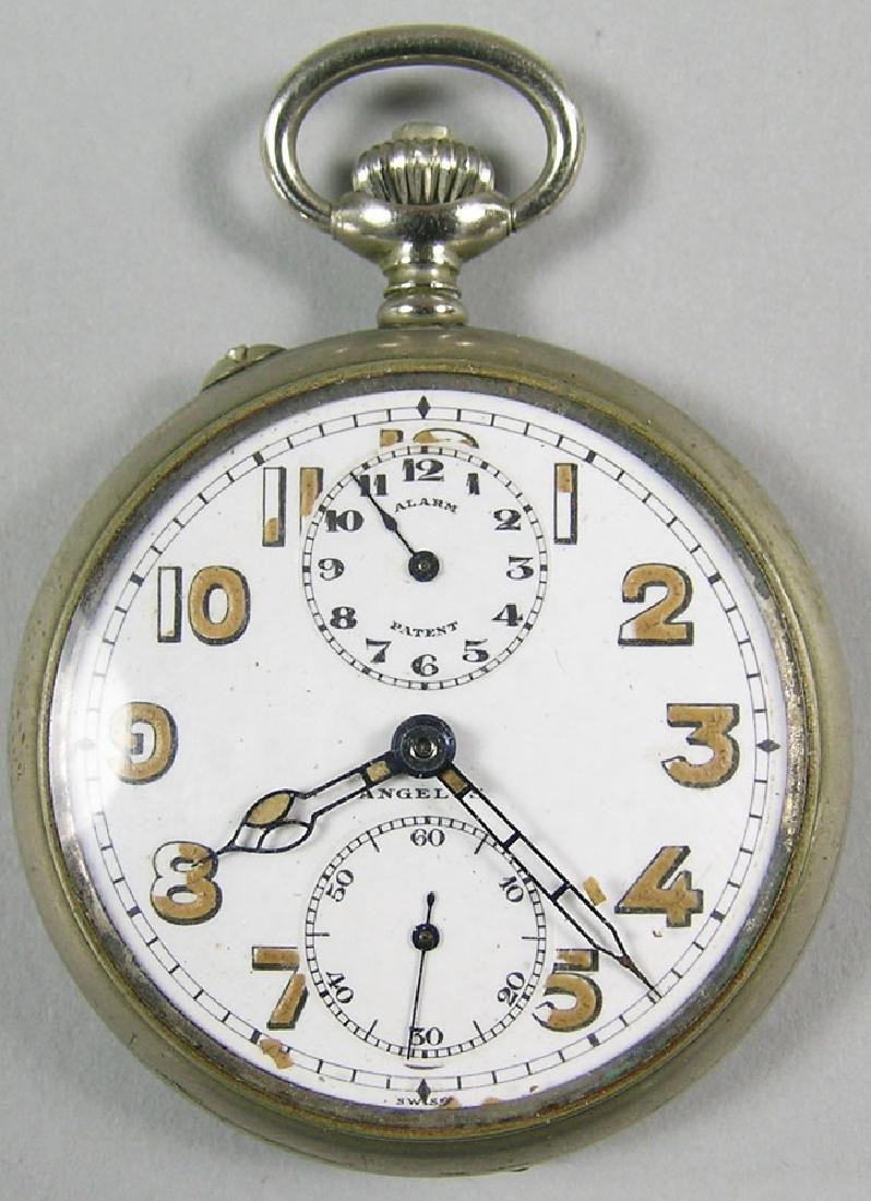 Angelus Watch Co. Alarm Pocket Watch, open face, 15
