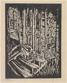 Earl Marshawn Washington American b1962 wood cut