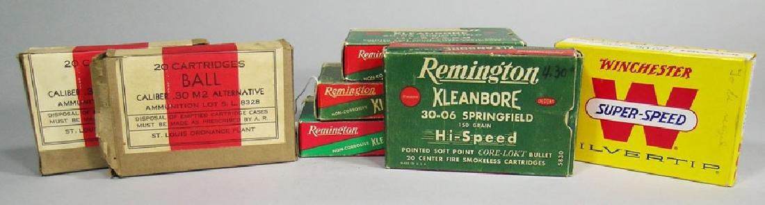 Seven Vintage Ammo Boxes