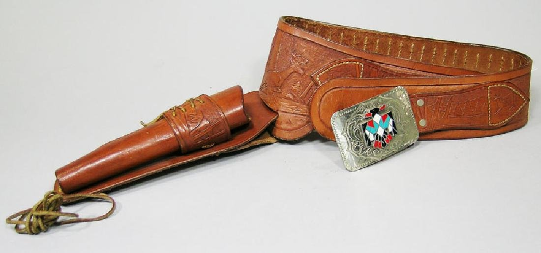 Western Leather Gun Belt