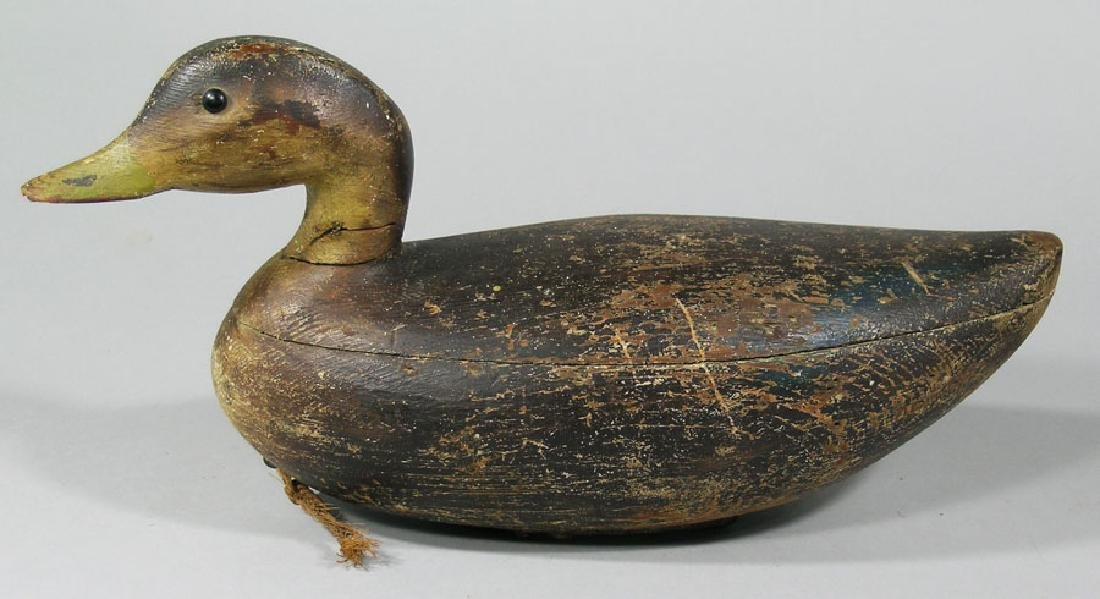 Antique Carved Wooden Mallard Decoy