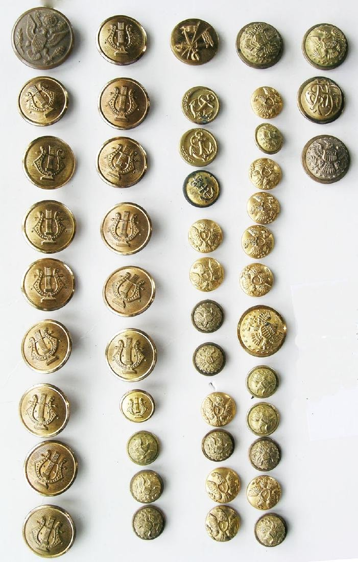Large Collection of Military Buttons