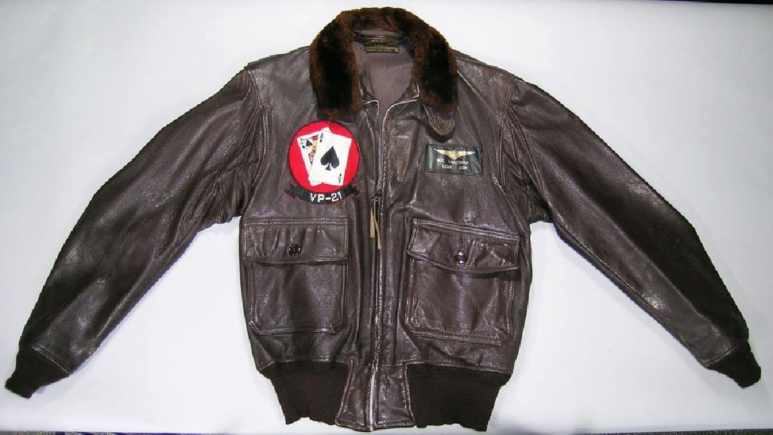 VP-21 Korean War Era Leather Flight Jacket