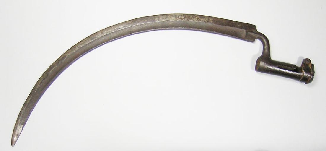Rare European Scythe Socket Bayonet