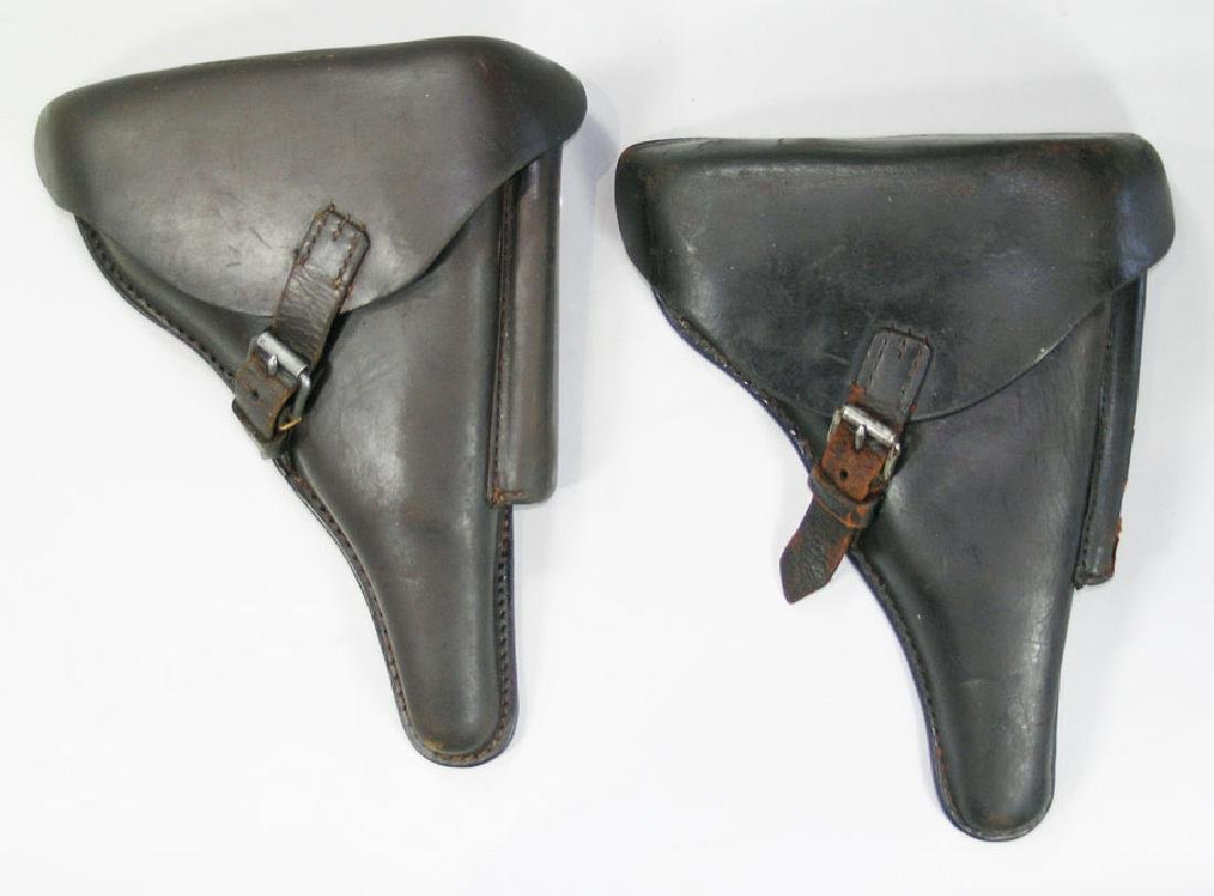 Two Luger Leather Holsters