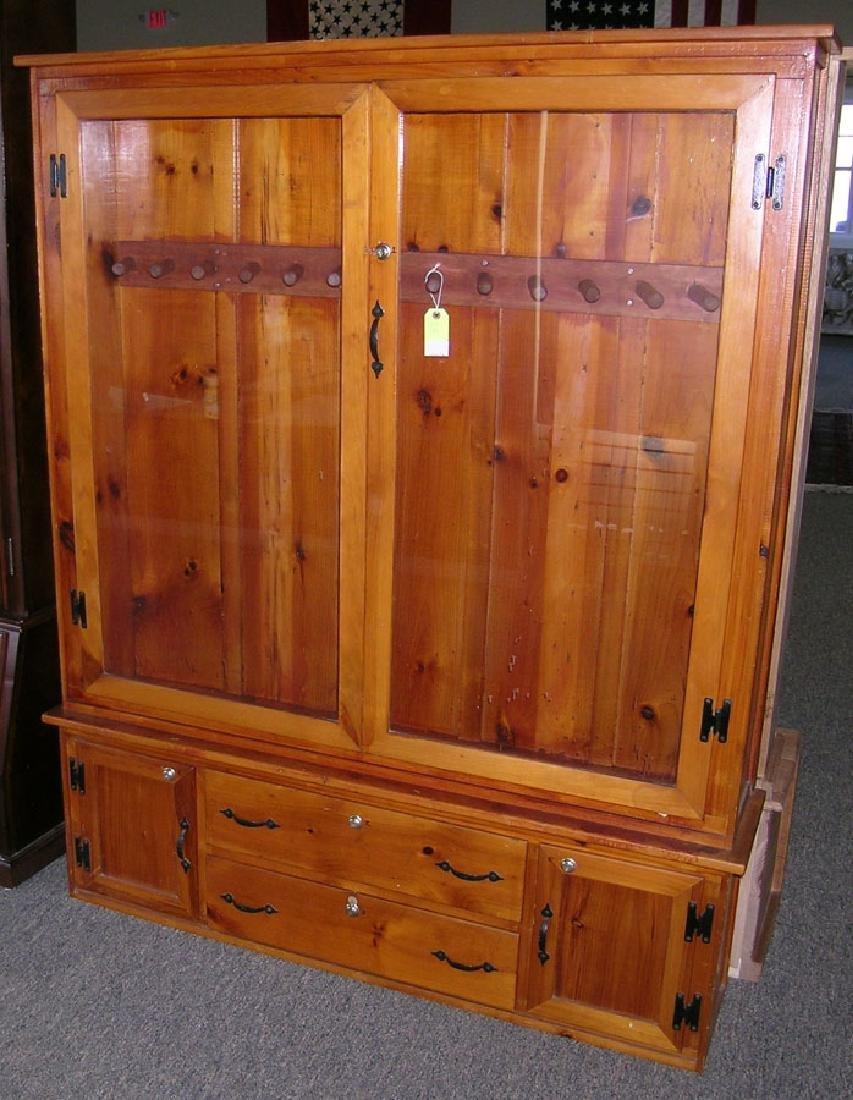 13-Gun Pine Cabinet