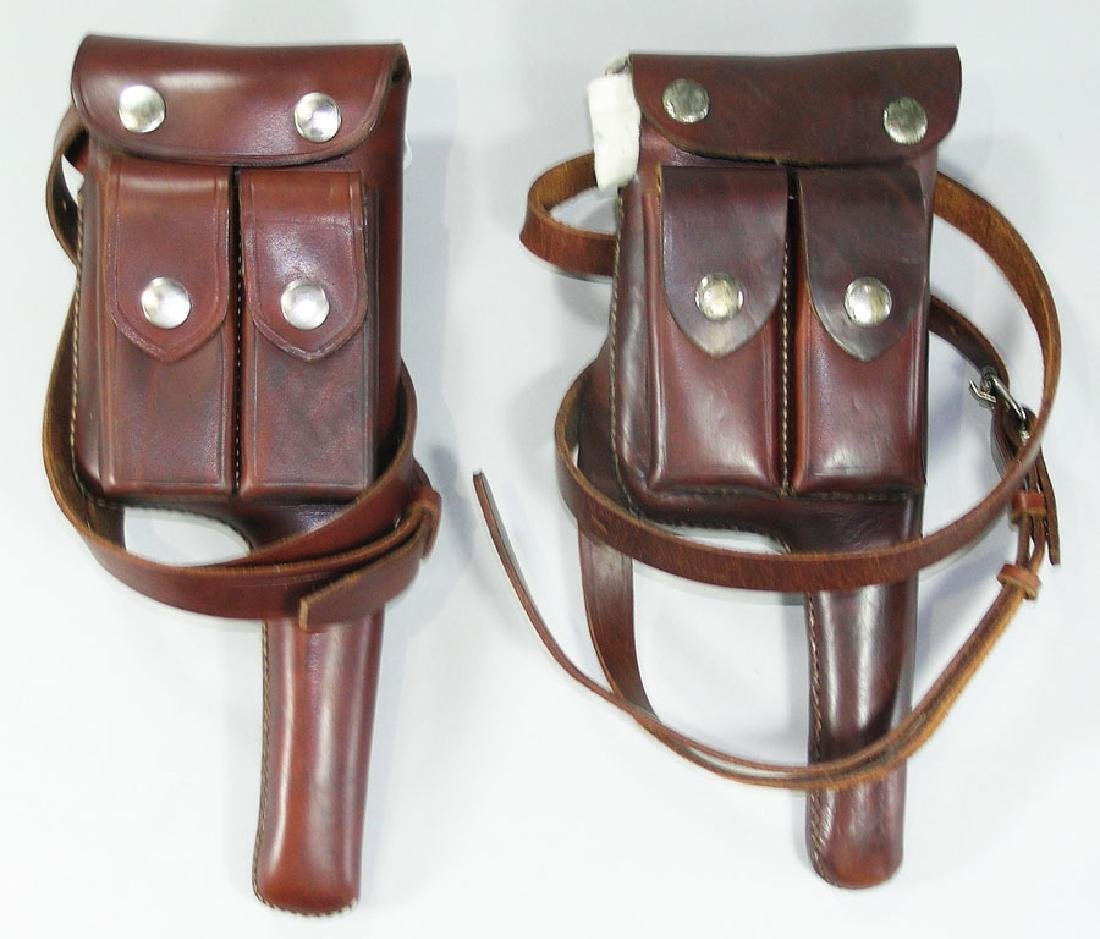 Two Contemporary Leather Broomhandle Holsters