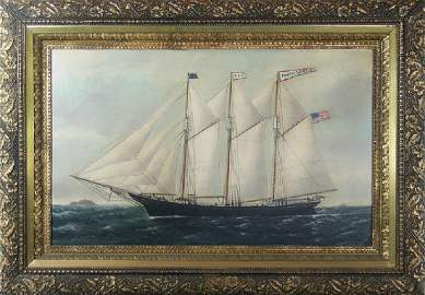 William Pierce Stubbs, (American, 1842-1909) , Oil on
