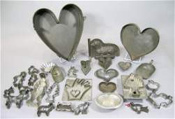 Collection of Antique Tin Kitchen Items