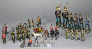 Thirty-Seven Cast Metal and Other Figures