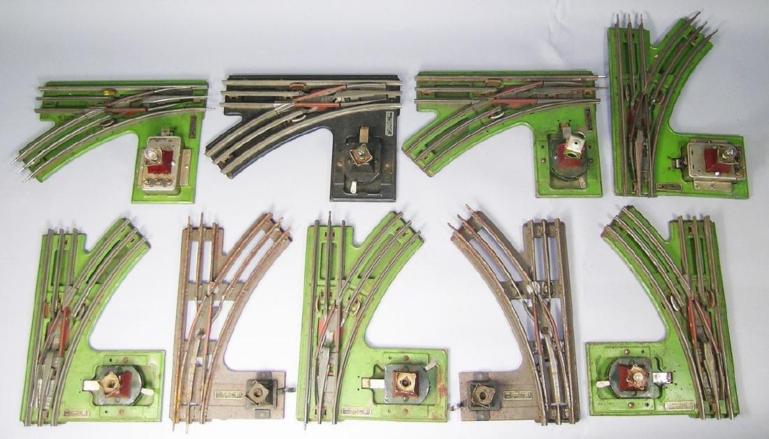 Nine Lionel Pre-War Switches