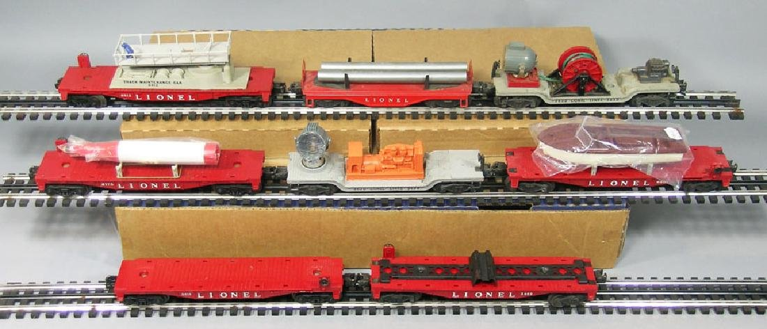 Eight Lionel Freight Cars