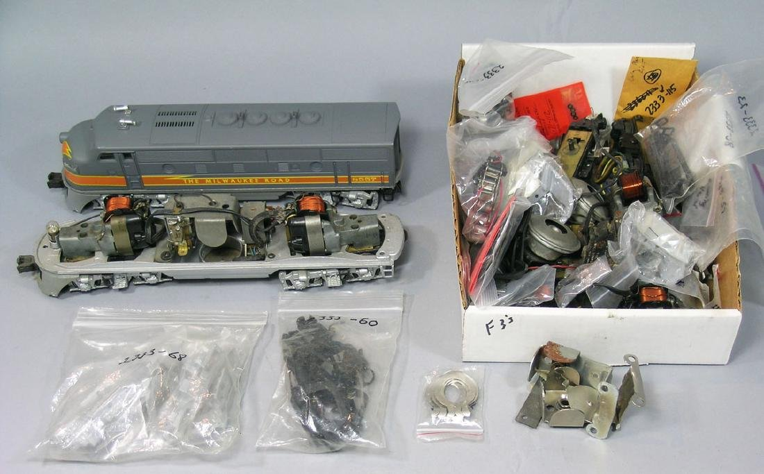 Very Large Assortment of Lionel F3 Parts