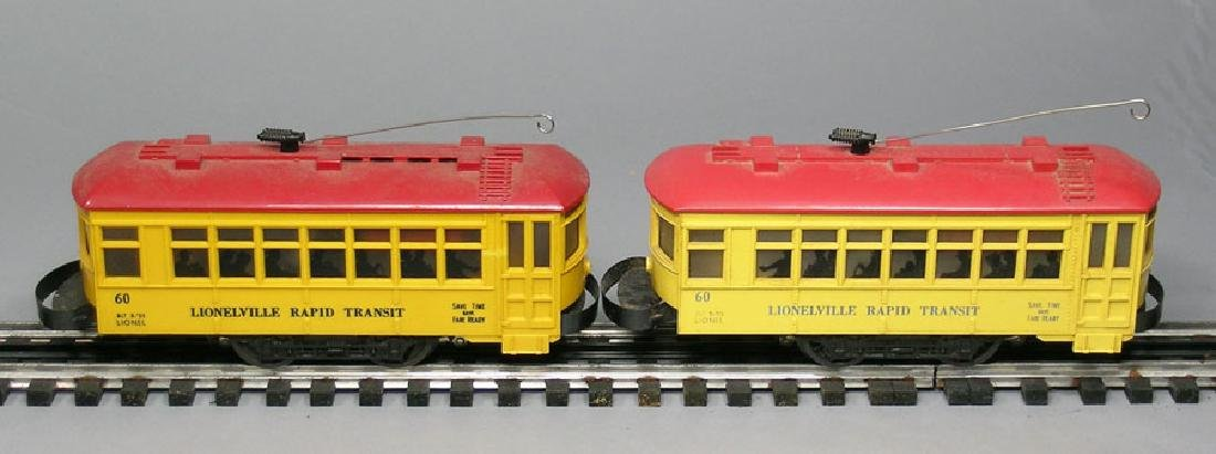 Two Lionel 60 Trolley's