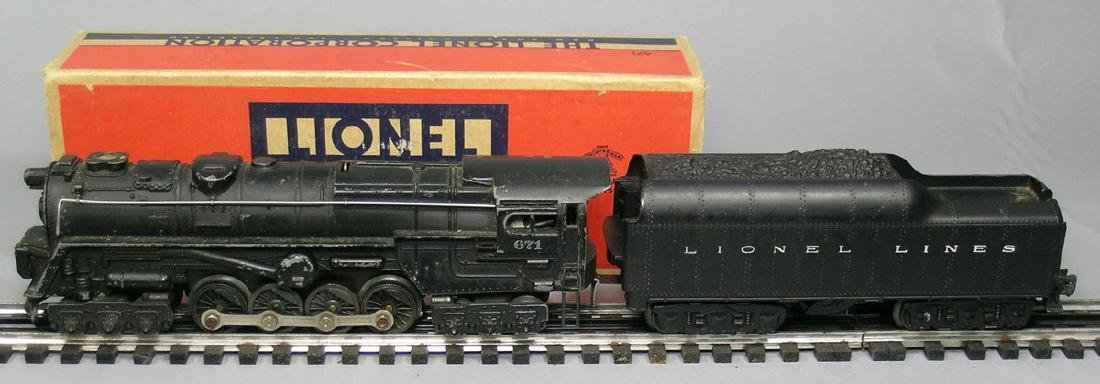 Lionel Steam Engine 671 with box and 2671W Tender