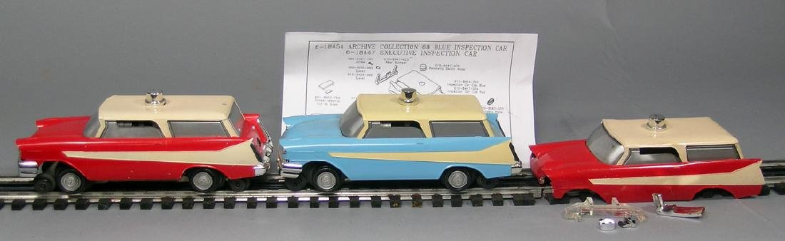 Three Lionel 68 Executive Inspection Cars, DeSoto's