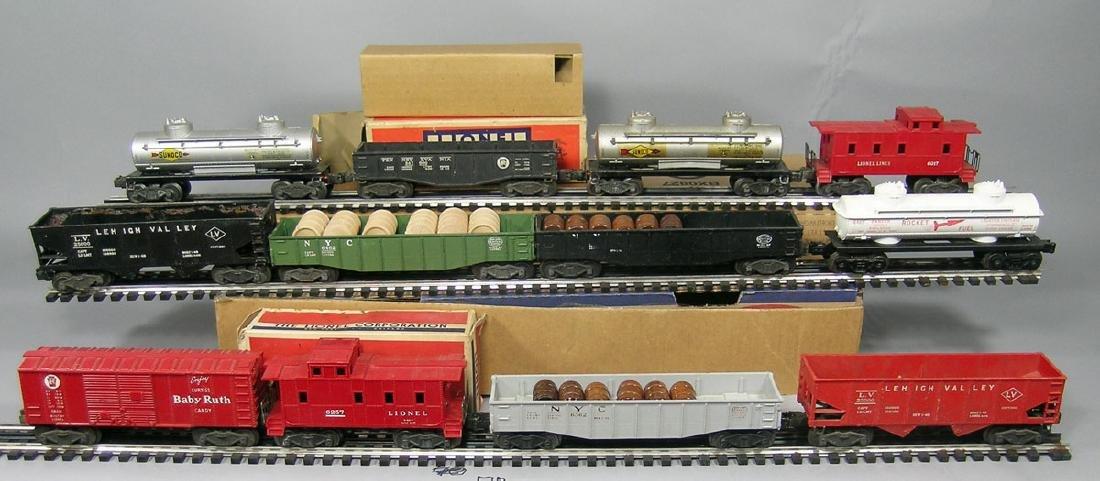 Twelve Lionel Freight Cars