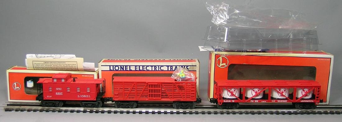 Three Lionel Freight Cars