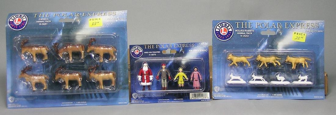 Three Polar Express Assorted Figure Packs