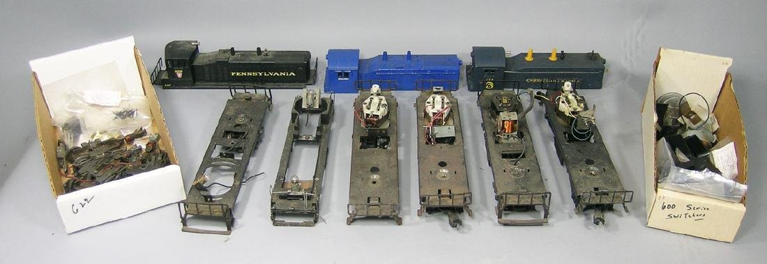 Assorted Lionel Diesel Switcher Locomotives and Parts