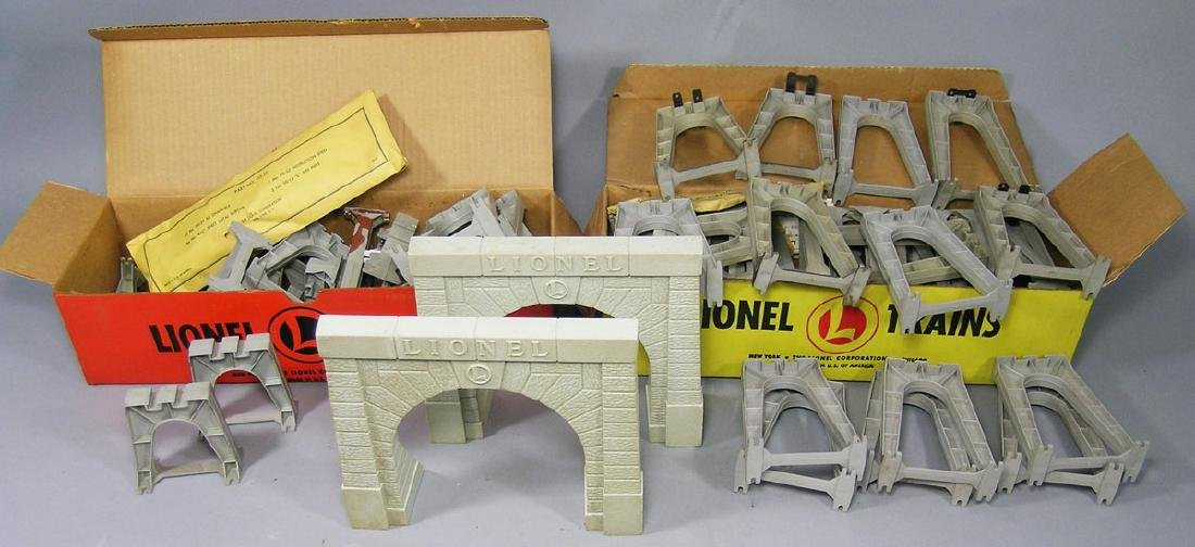 Two Lionel Trestle Sets, Portals and Pieces
