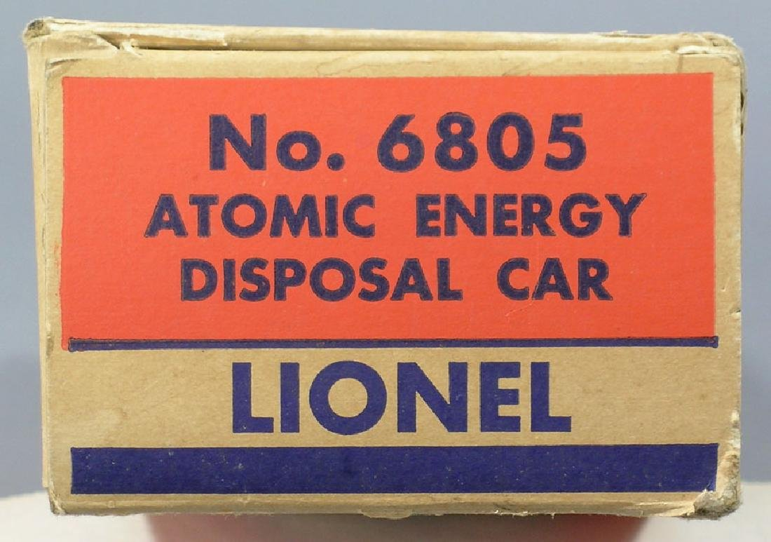 Lionel Post War 6805 Atomic Energy Disposal Car Box - 2