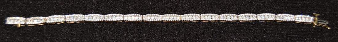 14k Yellow Gold Tennis Bracelet