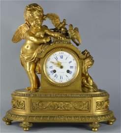 French Bronze Ormolu Monbro Fils Mantle Clock